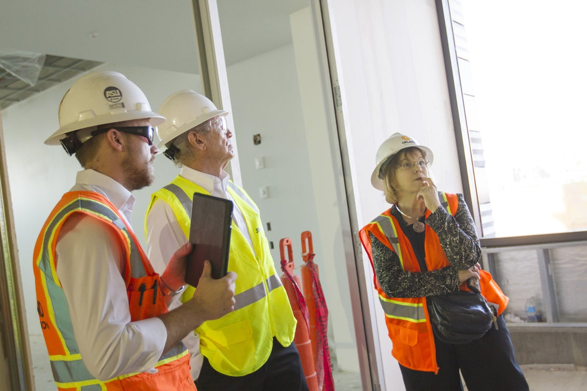 Jeff and Mary Ehret, CAVC Construction Tour