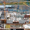 Areal photo of urban construction site