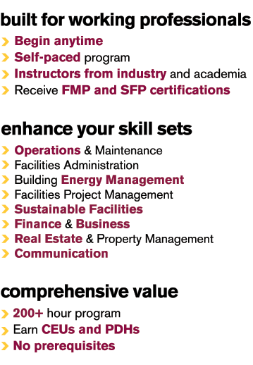 facility management certificate program | School of Sustainable ...
