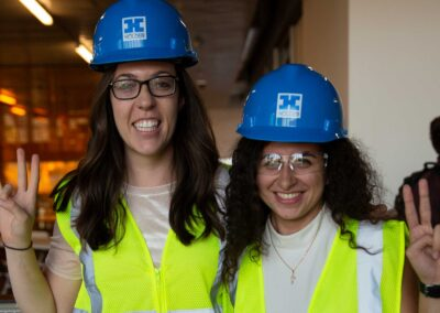 Two students pose in their new PPE gear at the DEWSC vesting cermony