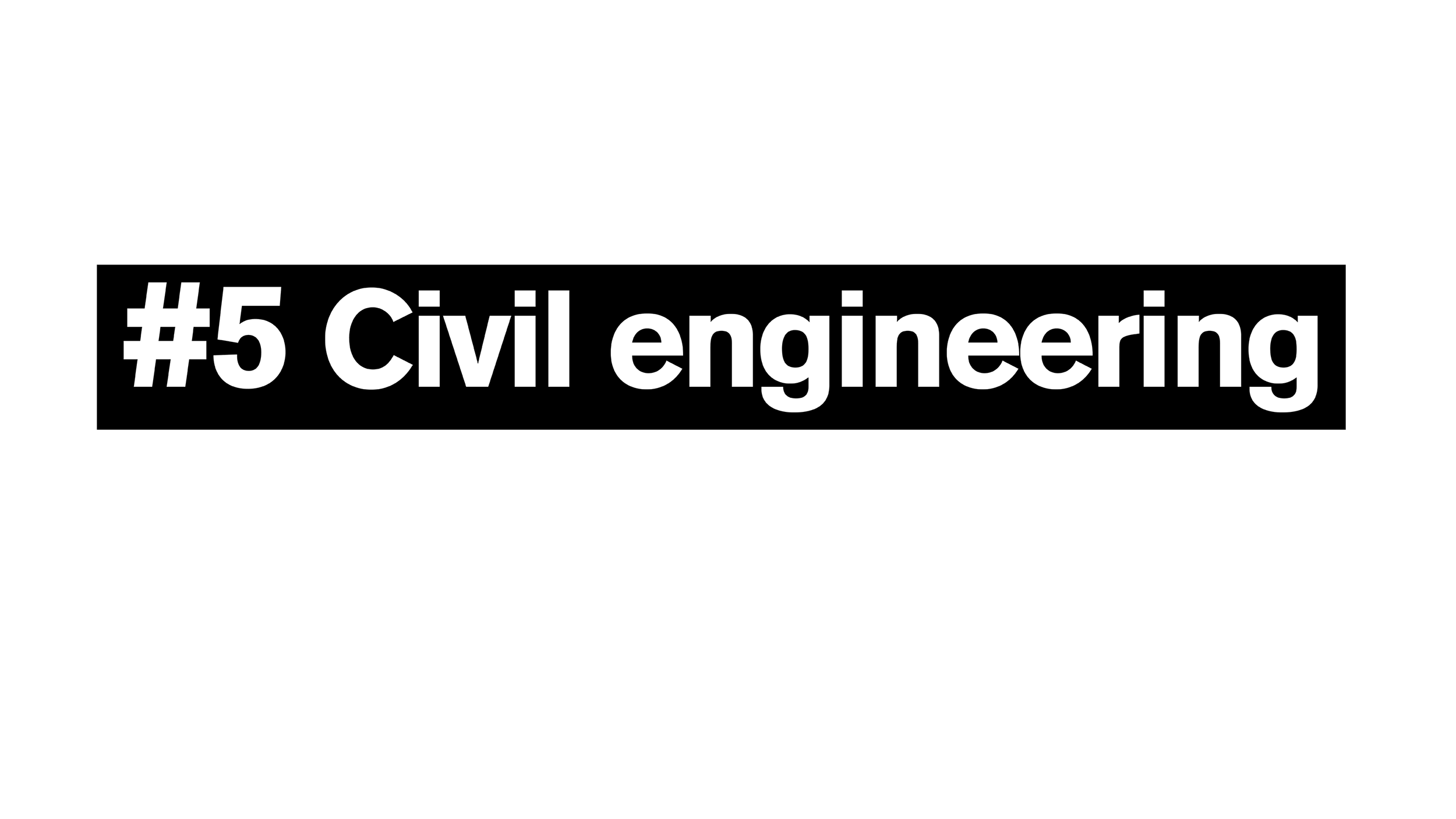 #5 Civil Engineering online master's program ranked by U.S. News and World Report